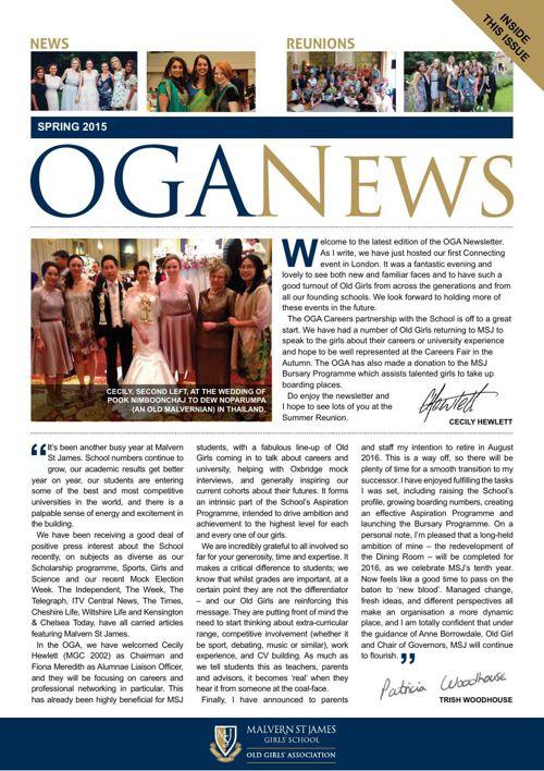 OGA Newsletter - Spring 2015