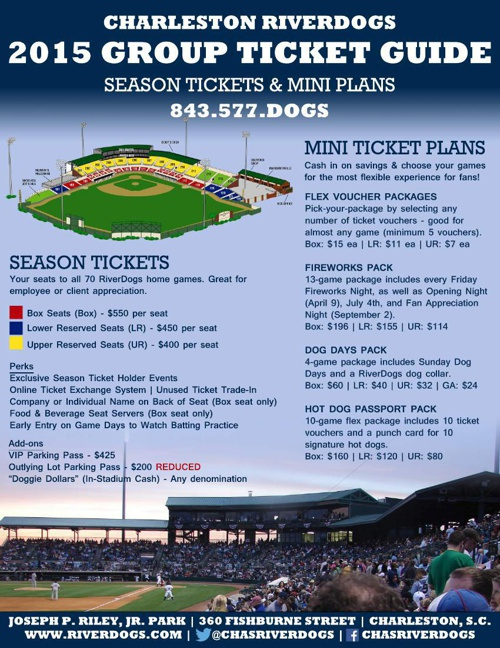 2015 RiverDogs Ticket Guide