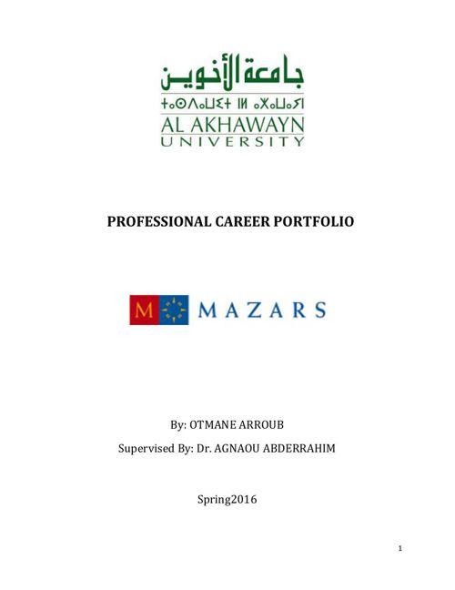 PROFESSIONAL CAREER PORTFOLIO