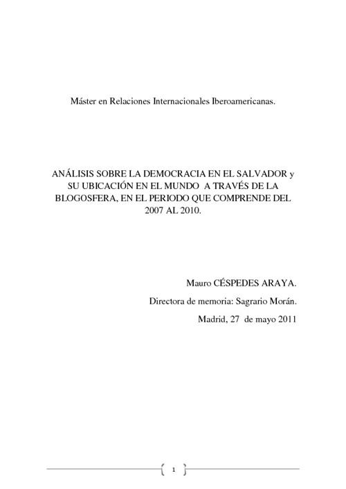 LA DEMOCRACIA EN EL SALVADOR
