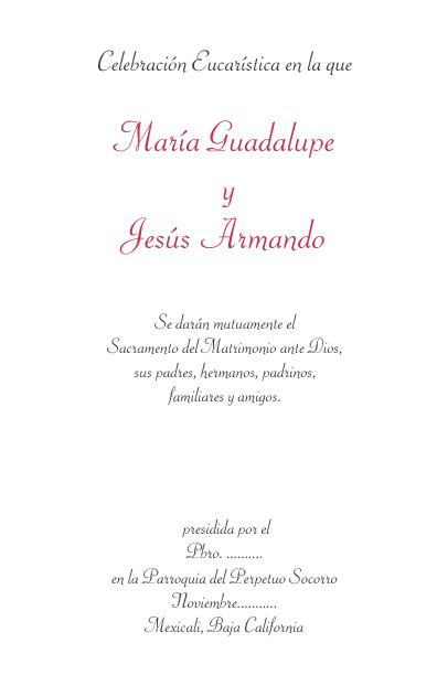 Jesús Armando y María Guadalupe