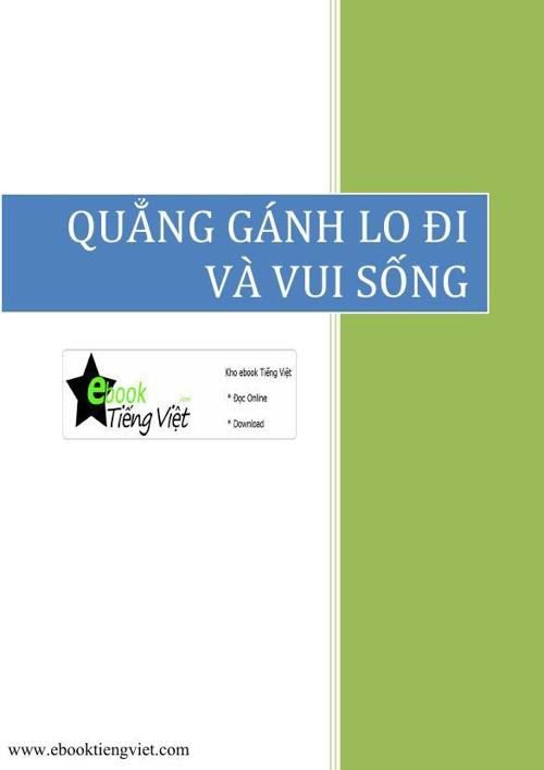 Quang ganh lo di va vui song