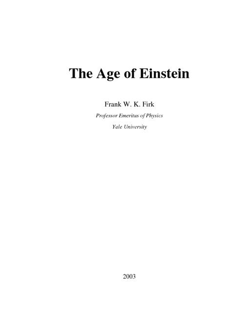 Age of einstien
