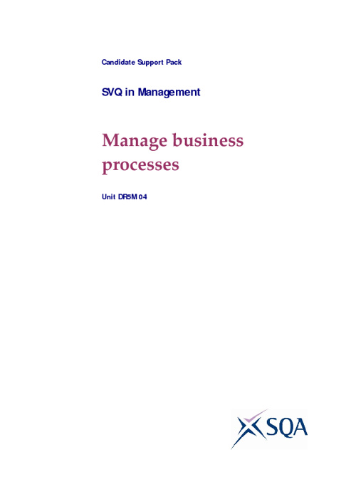 Manage business processes