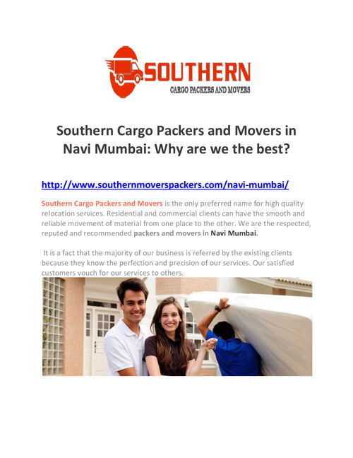 Southern Cargo Packers and Movers in Navi Mumbai