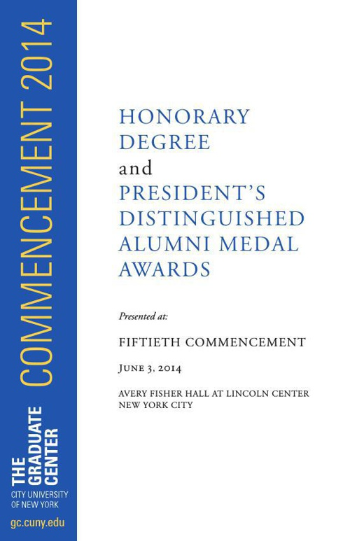 Honorary Degree and President's Distinguished Alumni Medal