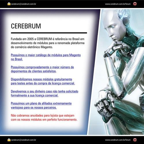 Apresentação da Cerebrum / Módulos