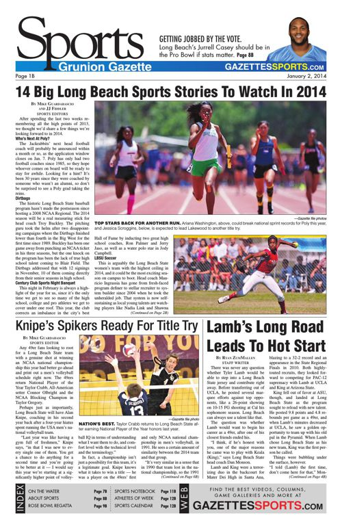 Gazette Sports | January 2, 2014