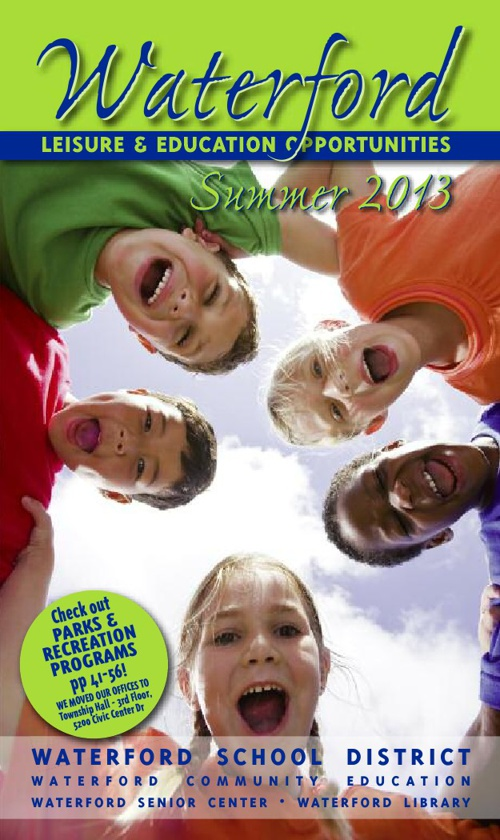 Waterford Leisure & Education Opportunities Summer 2013