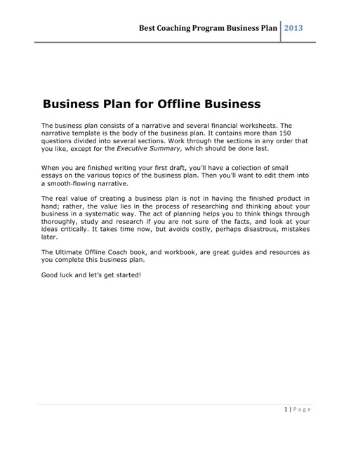 Best Coaching Academy Business Plan