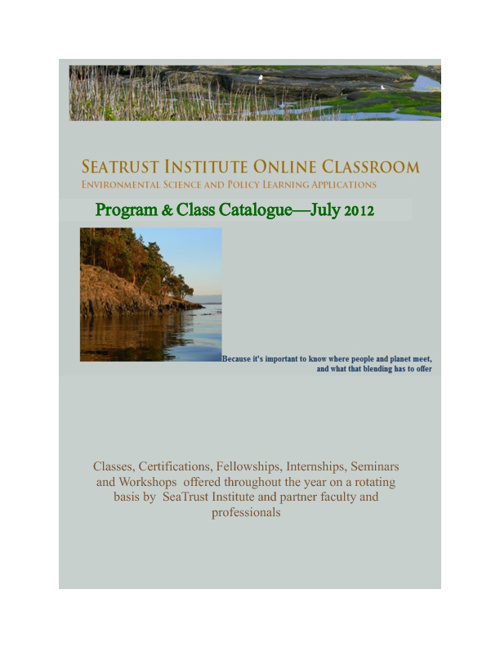 SeaTrust Institute Course & Program Catalogue July 2012