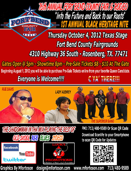 The 1st Annual Fort Bend County Fair Black Heritage Nite