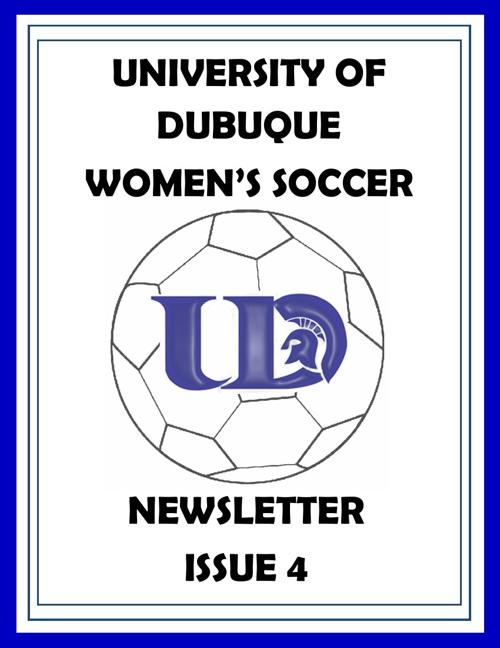 UD Women's Soccer Newsletter Issue 4