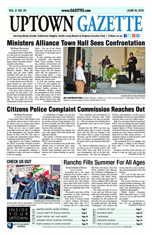 Uptown Gazette  |  June 19, 2015