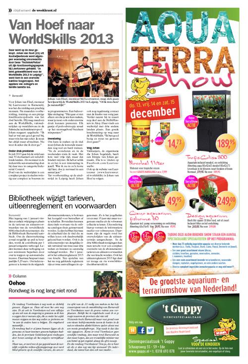 Barneveld Vandaag 06-12-2012 | Van Hoef naar WorldSkills 2013