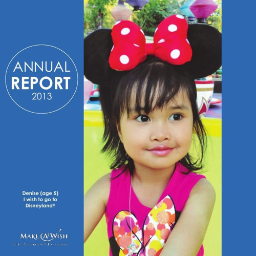 Make-A-Wish BC & YK Annual Report 2013