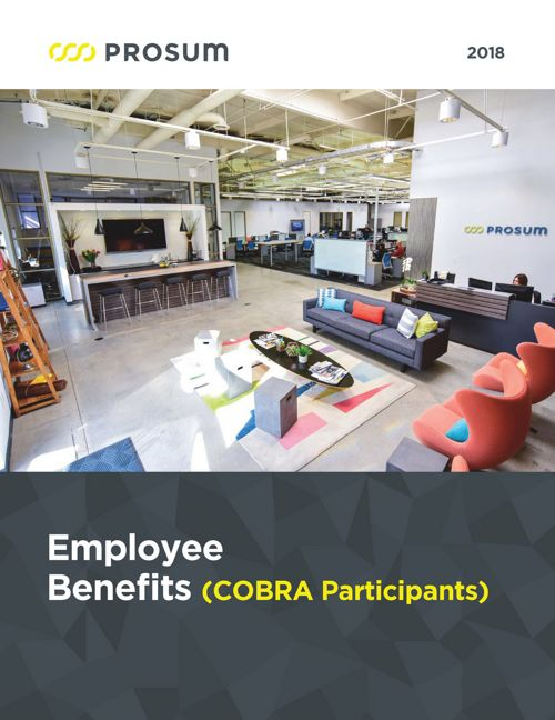 2018 Prosum Benefits Guide (COBRA)