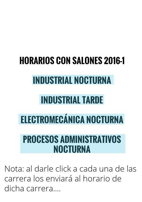HORARIOS CON SALONES INDUSTRIAL NOC-TARDE, EMK NOCT, PRO