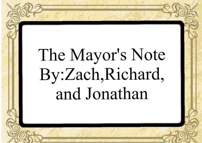 mayor's note