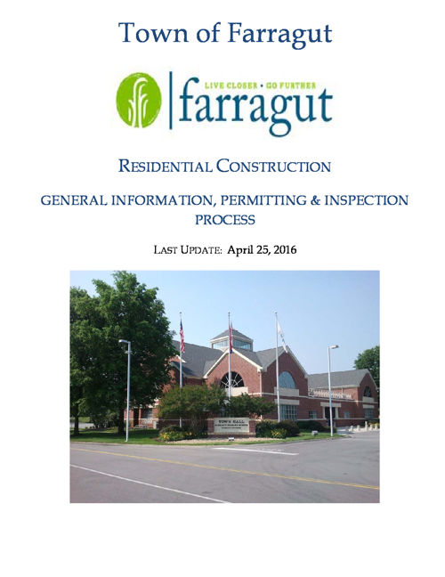 Town of Farragut - Residential Construction Handout - Web Flipbo