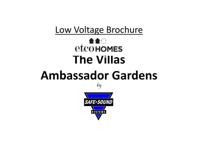 Villas Ambassador Brochure