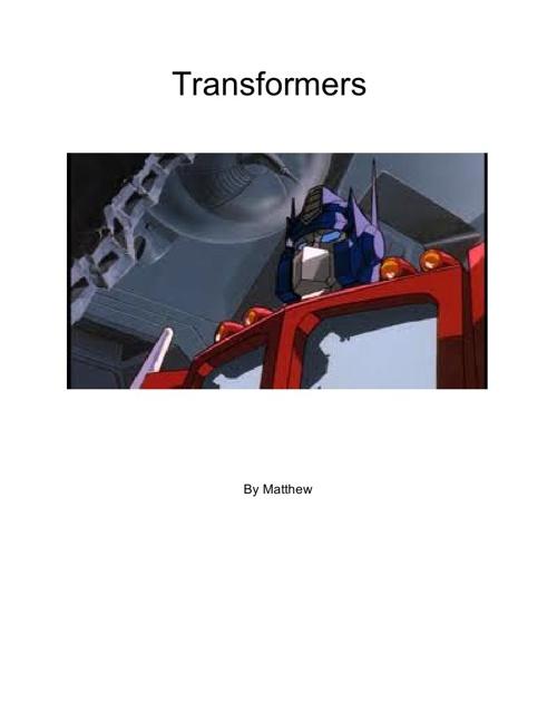 Transformers - Matthew