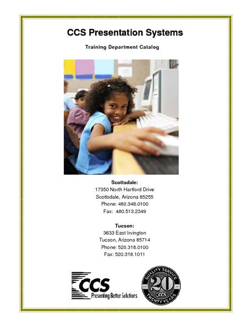 CCS Training Catalog