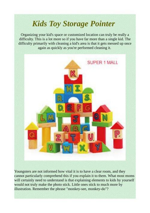 Kids Toy Storage Pointer