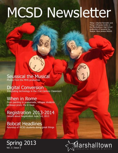 MCSD Newsletter - Spring 2013