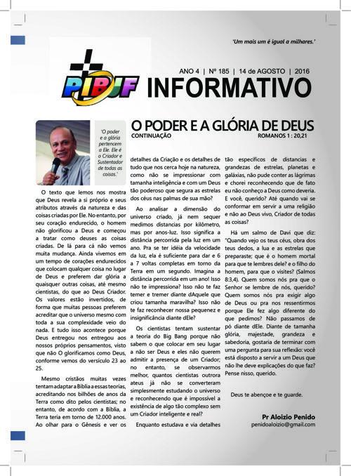 INFORMATIVO PIBJF 14.08.2016