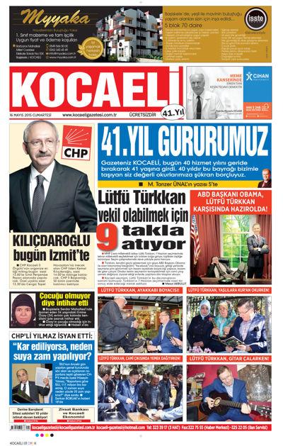 Kocaeli Gazetesi 41 yaşında