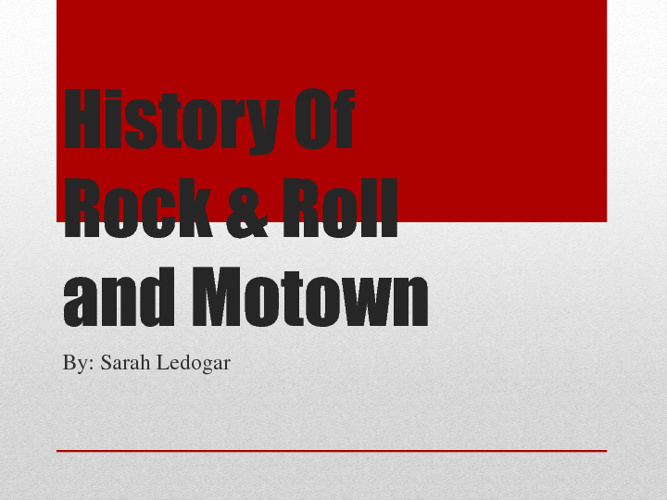 History of Rock & Roll and Motown