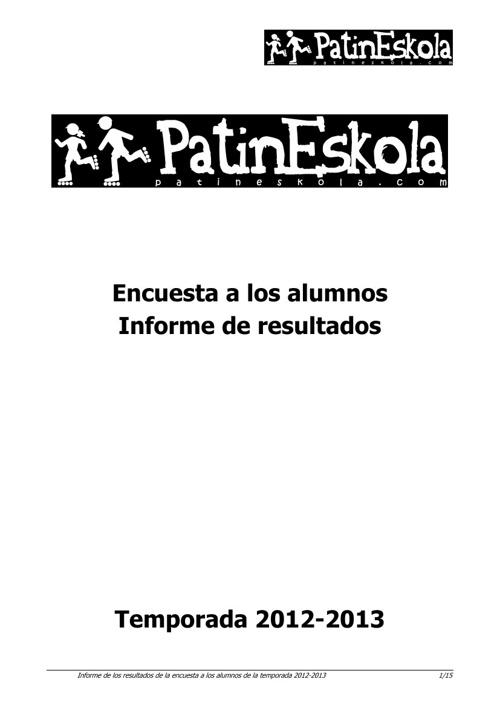 PatinEskola. Informe encuesta 2012-2013