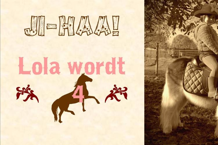 Uitnodiging verjaardagsfeestje Lola - familie