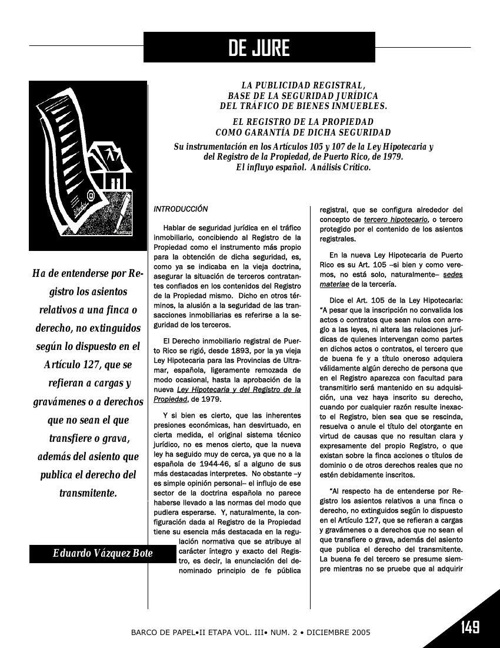 Publicidad Registral-Eduardo Vazquez Bote