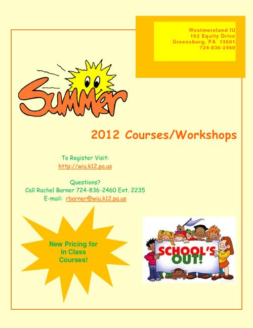 Summer Courses/Workshops 2012