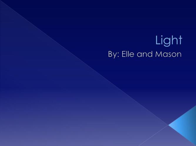 Light elel