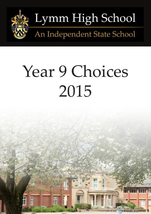 Choices Booklet 2015