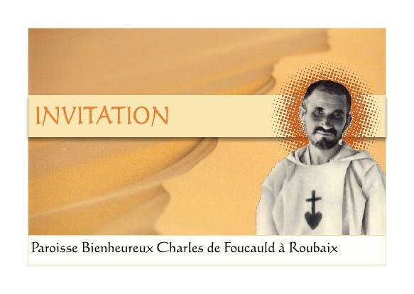 Invitation de la paroisse Bienheureux Charles de Foucauld