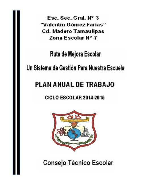 PLAN ANUAL DE TRABAJO  2014-2015