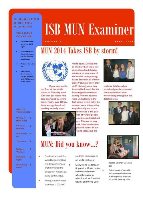 MUN Examiner 2014