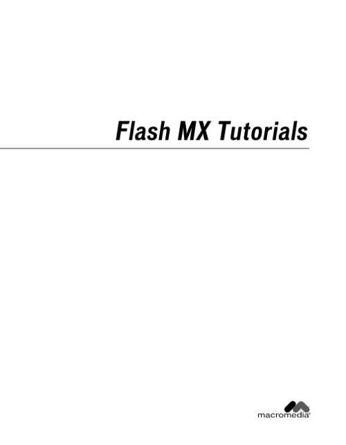 Flash MX Tutorial