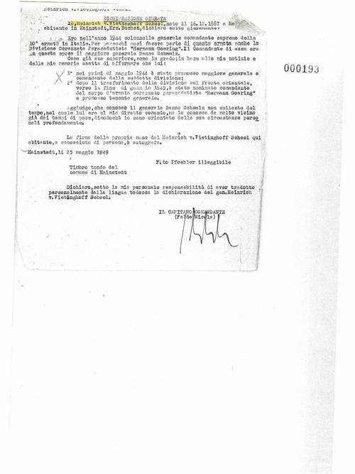 dichiarzione heinrich vietinghoff