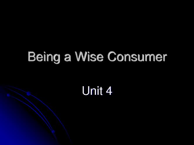 Wise Consumer