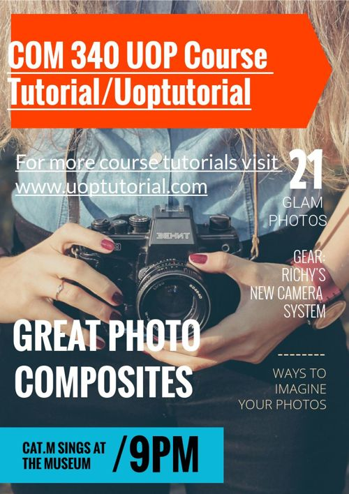 COM 340 UOP Course Tutorial/Uoptutorial