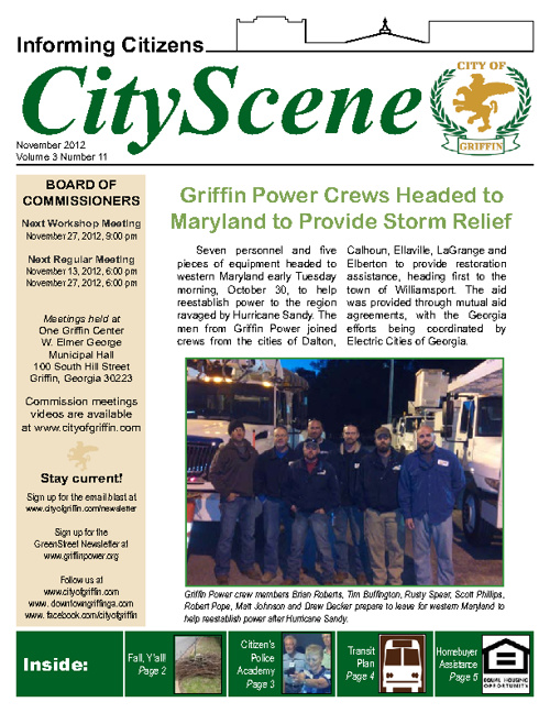 City of Griffin November Newsletter