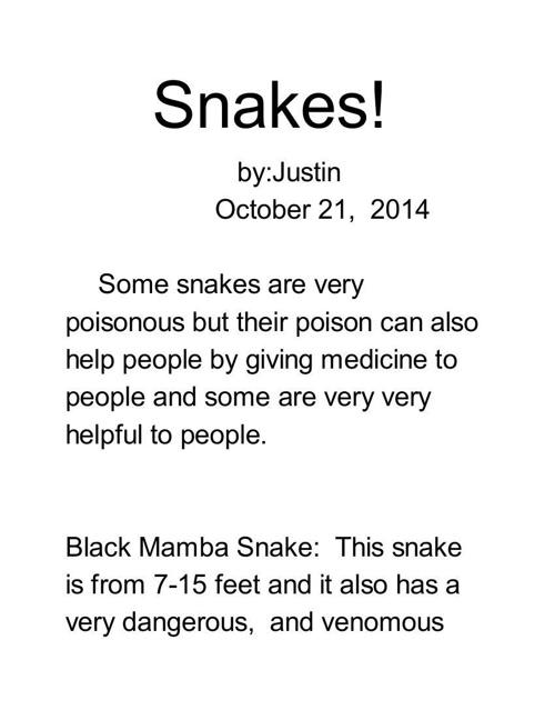 Snakes - Google Docs