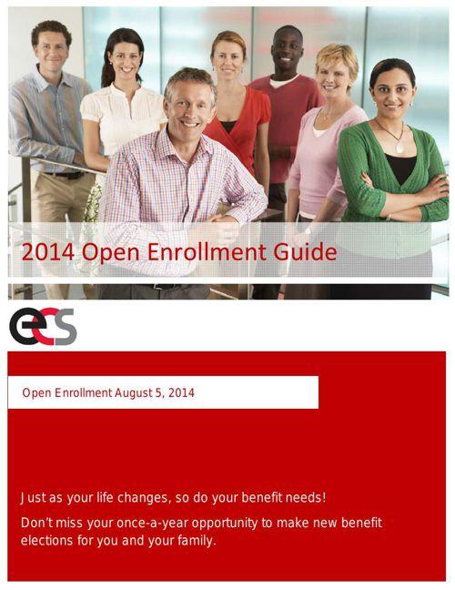 ECS Open Enrollment Guide First Draft 7-30-14