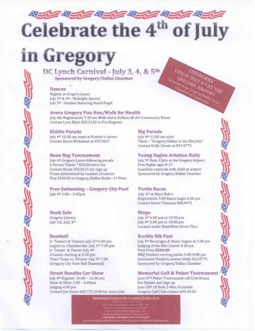 Gregory's 4th of July Celebration