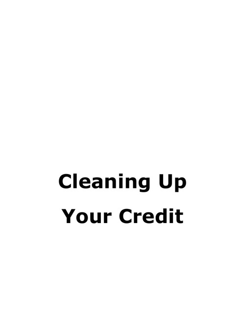 Cleaning Up Your Credit